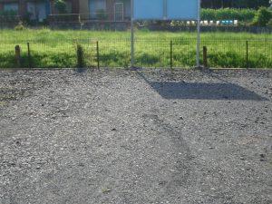 駐車場,草刈り