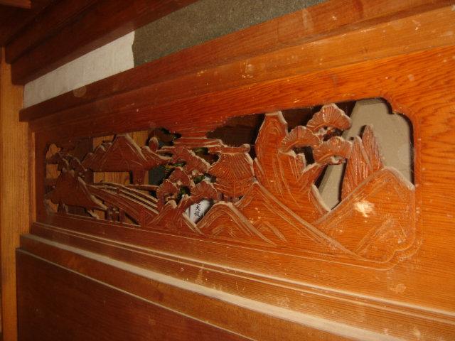 欄間の彫り物