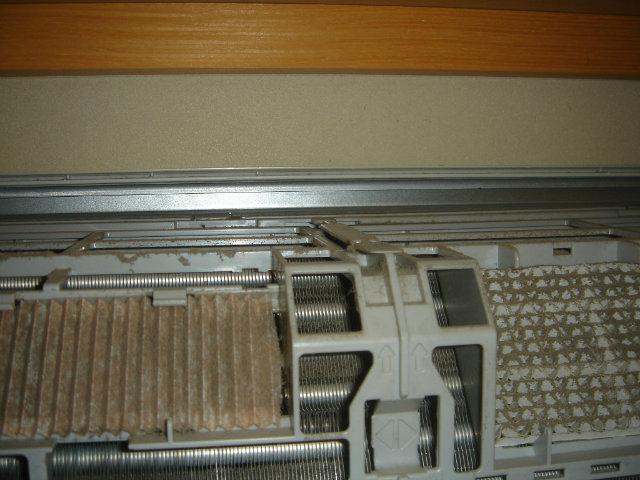 空気清浄フィルターの汚れ