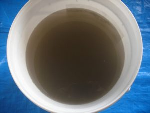 エアコン洗浄汚水