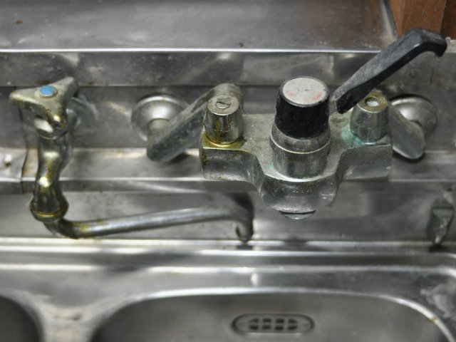 水栓金具の汚れ