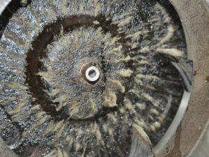 シロッコファン,油汚れ