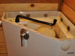 トイレタンクの縁カビ